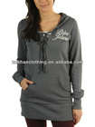 Women's fashion long length hoodies