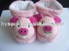 Pig-designed Baby Toy Socks, Made of Cotton and Polyamide, Customized Designs are Welcome