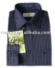 Blue and Purple Striped Long Sleeve Terylene Shirt for Men