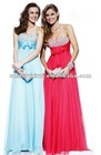 N0698 Fashion Sweetheart Chiffon beaded Prom gowns 2012