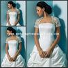 JAC066 New Short Sleeves Lace wedding bolero Jacket 2013