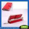 Multi function support leather case for iphone 4g/s