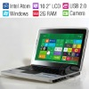 10 Inch Cheap Windows 7 Mini Notebook & Laptop UMPC/Intel 1.8GHz CPU/2GB RAM/320G HDD/Wifi/Camera/RJ45/USB2.0/Aluminum Case