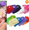 Baby Infant Toddler Hand Crochet Beanie Hat + Daisy Flower Clip