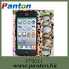Leopard finger ring pc case suitable for apple iphone 5