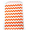 Orange Chevron Paper Treat Bags - Bakery Bags 5*7.5 inch medium size