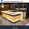 TW luxurious acrylic bar counter reception counter U shape counter with led lights (TW-MACT-094)