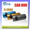HD Car Dashboard Camera Dual lens Car Accident DVR Recorder(X3000)