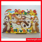 animal shape rubber pvc photo frame