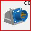 32A/3P+E/9H/220~250V/IP44 wall mounted inlet