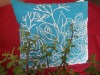 flower embroidery cushion