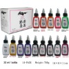 Tattoo Ink Kuro sumi 14 Color bottles chinese tattoo Supply