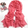 Rose red Newest Pretty Hot design Graceful Fashion Polyester Scarves