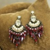 Luxury alloyed crystal chandelier earrings with 14k gold plating