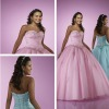 Strapless sweetheart A-line ball gown prom dress