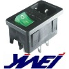 6 terminals with fuse holder and rocker switch power socket