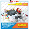 One way Motorcycle alarm system with microwave or ultrasonic sensor output
