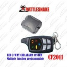 2-way car alarm system CF2011 LED remotes Two-way range over 300M Multiple function programmable