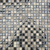 Dark Emperador Marble Mix Glass Mosaic tile