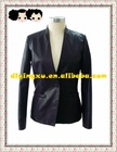 2012Motocycle thin pu leather Motocycle women jacket