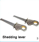 Shedding lever for narrow fabric needle loom