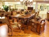 Elegant dining sets,dining table,dining chair,wooden frame and fabric mat(B50507)