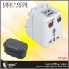 2012 Hot USB Travel Adapter with UK/US/AUS/EU plugs