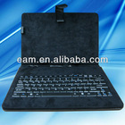 High quality durable 10 inch PU leather grid lines case with usb keyboard for tablet pc