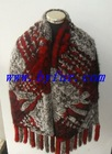 FY-WB019 New Fashion Ladies' Knitted Rabbit Fur Shawl,Long, wide knitting scarf