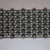 Black Plastic Rhinestone Mesh Trim