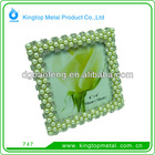 Alloy photo frame with rhinestone and bead