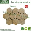 Hexagon stone yellow granite landscape edging