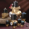 Brass solenoid valve for water gas oil and air