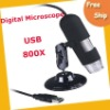 Free shipping Digital Microscope---high quality 500X 2.0 MP black USB Digital Microscope with 8-LED