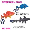 Sell promotional PVC tropical fish key chain