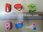 sharpener, scotch, scissor, clock,handbag, stapler 3D eraser