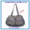 Washed Canvas Messenger Bag Tote Bag For Ladies