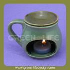 Unique cup shaped decorative candle wax warmer