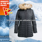 2013 100% polyester water proof fabric quilt winter snow high quality woman grey duck down coat