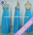 Long sweetheart beaded chiffon evening dress 2012