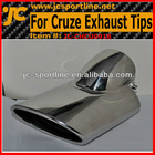 Stainess steel Muffler auto exhaust tips for Chevrolet Cruze