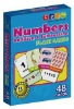 Number flash card for kids education