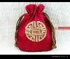 Beautiful cotton&jute drawstring bag