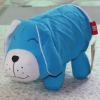 blue smile dog design cotton fabric toilet tissue cover