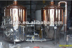 stainless steel mash tun brew kettle in cooper surface