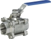 3pc threaded ball valve ( three pieces with internal threaded)