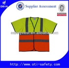 CE stabdard Hi Visibility Safety Vest with fabric pouch and EN471 Reflective tape
