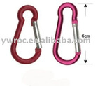Promotional Tear Drop shape Aluminum Carabiner