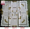 100% polyster elegant style Embroidery table cloth
