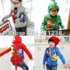 children hoodies boy blue red grey green dinosaur hoody baby design wholeale
